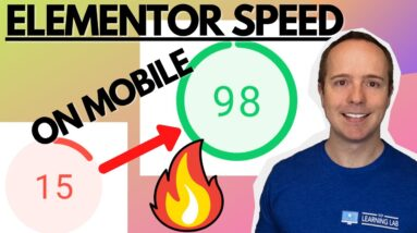 15 To 98 On Mobile On Google PageSpeed Insights - Speed Up Elementor