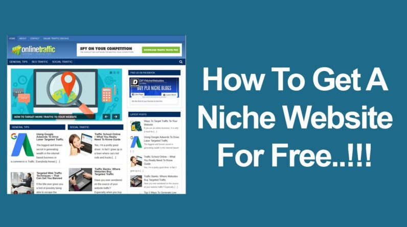 How To Get An Affiliate Niche Website For Free - Done For You Pre-made Affiliate Website