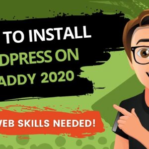 GoDaddy WordPress Install 2020 [How To Install WordPress on GoDaddy]