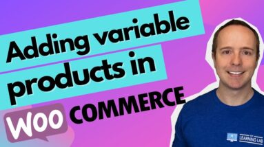 How To Add A Variable Product In WooCommerce