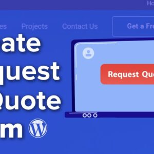 How to Create a Request a Quote Form in WordPress Step by Step