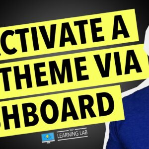 How To Deactivate A Theme In WordPress Via The WordPress Dashboard | WordPress Deactivate Theme