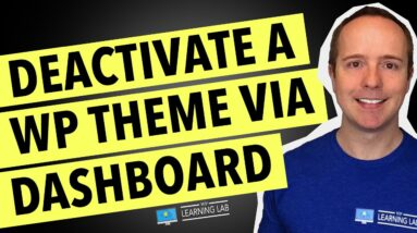 How To Deactivate A Theme In WordPress Via The WordPress Dashboard   WordPress Deactivate Theme