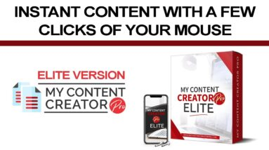 My Content Creator Pro Is A Powerful Content Creation Software - Elite Version