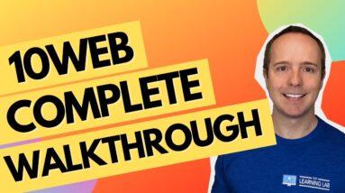 10Web AI Builder + Complete Feature Walkthrough