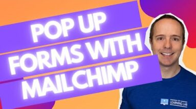 MailChimp Pop Up Subscription Form On WordPress + Automated Email After Signing Up