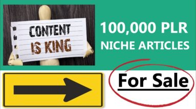 100,000 High Quality Niche Private Label Rights Articles For Sale (Buy PLR ARTICLES)