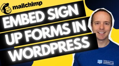 How To Embed MailChimp Signup For In WordPress