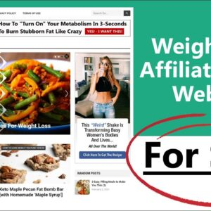 Weight Loss Affiliate Niche Website For Sale – Weight Loss Guide 101