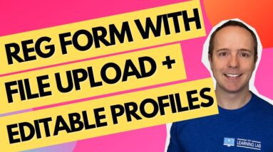 How To Create A Custom Registration Form With WordPress + Avatar & File Upload + Front-End Editing