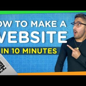 How to Make a Website in 10 Minutes | Easy & Simple 2021