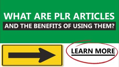 What Are PLR Articles And The Benefits Of Using Them