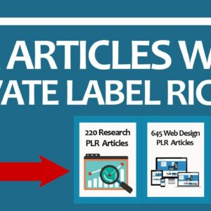 PLR Articles With Private Label Rights (Over 140,000 PLR Articles In All Niches)