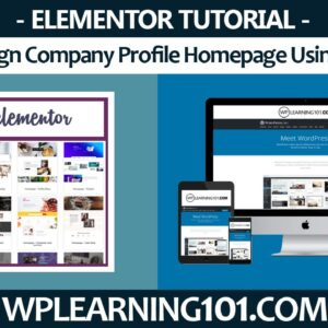 How To Design Homepage Using Elementor In WordPress (Step-By-Step Tutorial)
