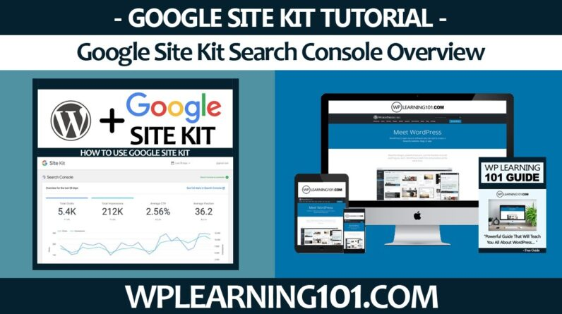 Google Site Kit WordPress Plugin Search Console Overview In WordPress (Step-By-Step Tutorial)