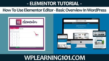 How To Use Elementor Editor - Basic Overview In WordPress (Step-By-Step Tutorial)